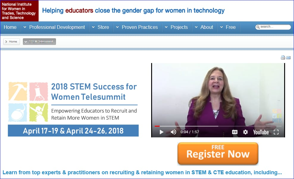 Online Event for Boosting STEM Success for Women