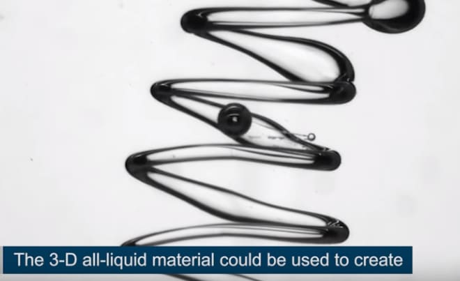 Scientists Create Liquid 3D Printing Method