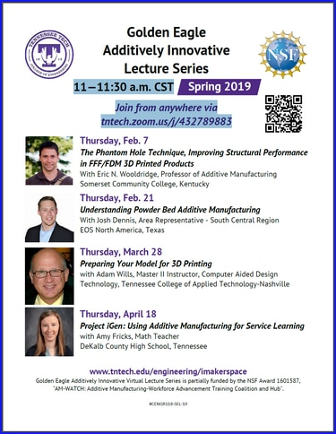 Additively Innovative Lecture Series Spring 2019 TTU