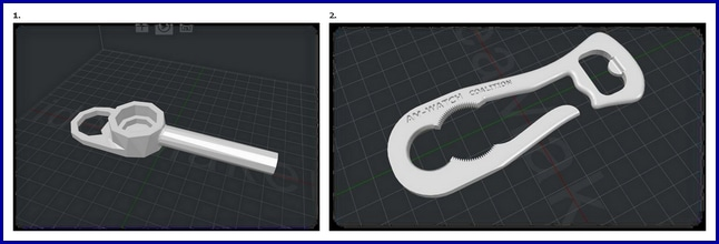 NSF TTU Collaboration Bottle Opener Before After